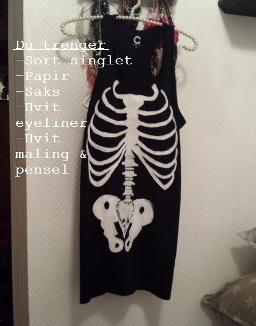 DIY skull-shirt